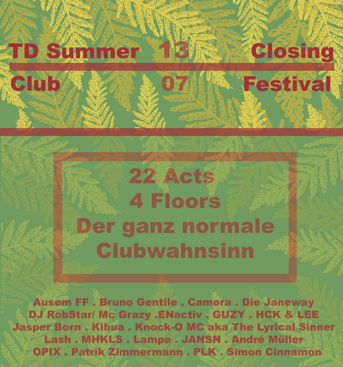 Feten-Report aus Wetzlar • TD Summer Closing am 13.07.2018