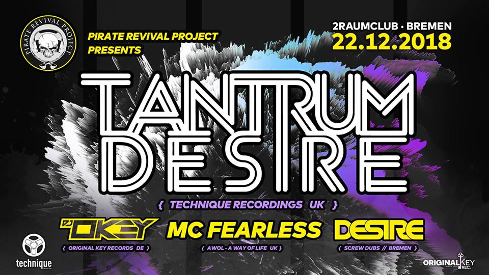 Pirate Revival Project pres. Tantrum Desire + MC Fearless (UK)