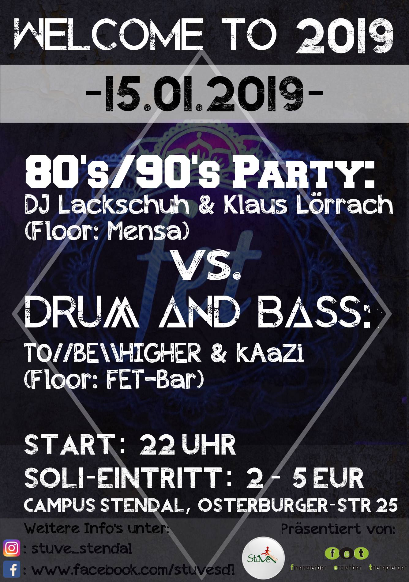 Welcome To 2019 – 80's/90's vs. Drum and Bass