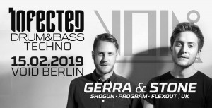 infected Drum and Bass VOID Berlin gerra stone