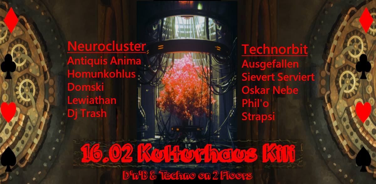 DnB & Techno on 2 Floors /w Antiquis Anima & Ausgefallen