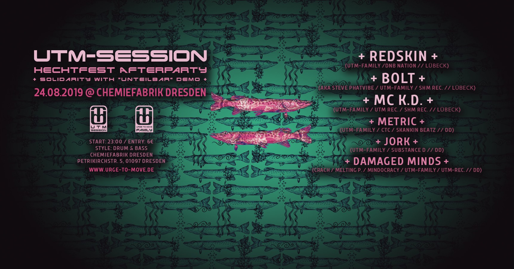 UTM-Session – Hechtfest Afterparty 2019 + Soli with Unteilbar