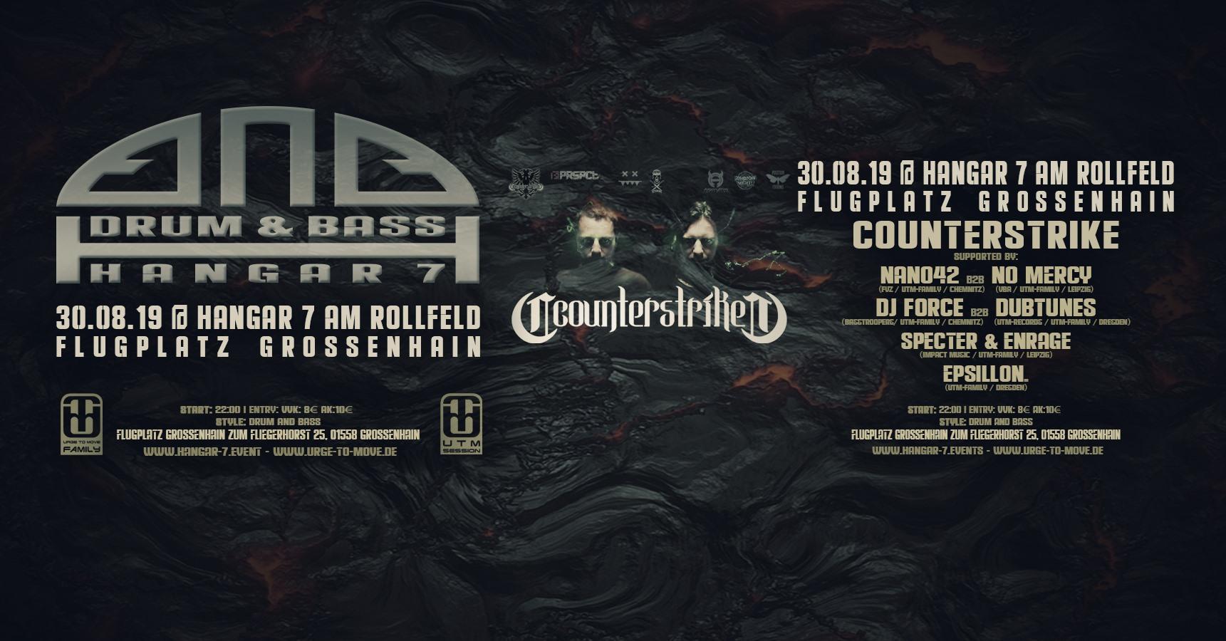 Drum & Bass – Hangar 7 with Counterstrike + UTM-Family
