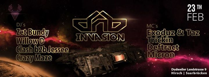 23.02 | DnB Invasion + ²nd Floor: Reggae w/ Double SIB Sound
