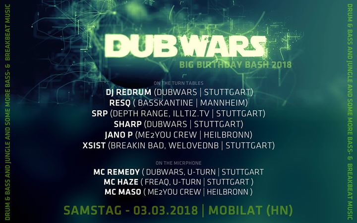 Dubwars pres. Big Birthday Bash