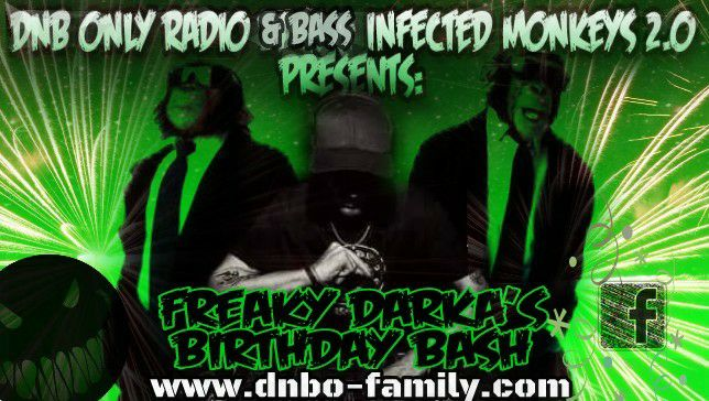 DNB ONLY Radio FREAKY'S Birthday Bash!