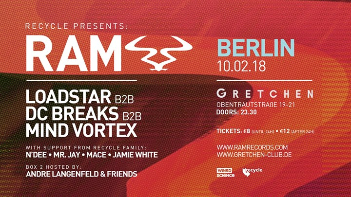 Recycle presents RAM Berlin: Loadstar – DC Breaks – Mind Vortex
