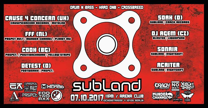 Subland – Drum and Bass / Cause4Concern, FFF, Cooh, Detest