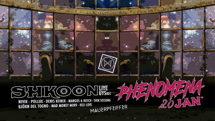 Phenomena ➠ Shkoon live! (Underyourskin rec, Hamburg/Deir ez-Zo)